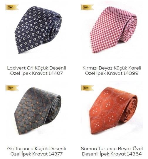 Özel Tasarım İpek Kravatlar Sade Kravat'ta
